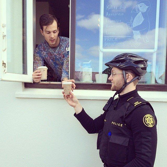 Le compte Instragram de la police de Reykjavik