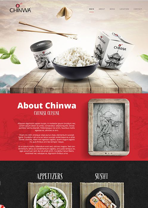 Webdesign : Chinwa restaurant in Riyadh, Saudi Arabia